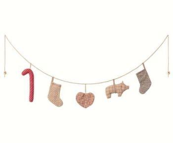 Maileg, Christmas Garland, Small - 110 cm. / 5 ornaments - Last one!