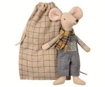 Maileg, Winter Mouse, Father in Bag *October*