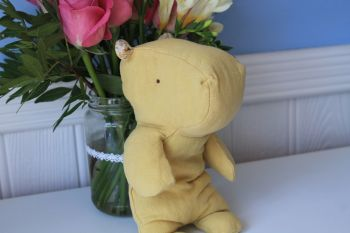 Maileg, Safari Friends Little Lime Yellow Hippo