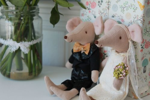 Maileg, Wedding Mice Couple in Box