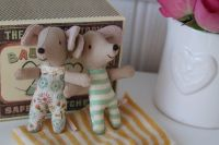 Maileg, Baby Mice, Twins in box