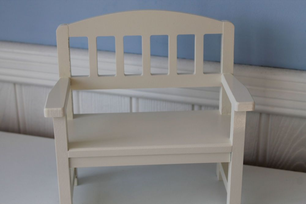 Maileg. Wooden Bench, Off White