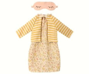 Maileg, Medium Mouse, Yellow Floral Dress Set