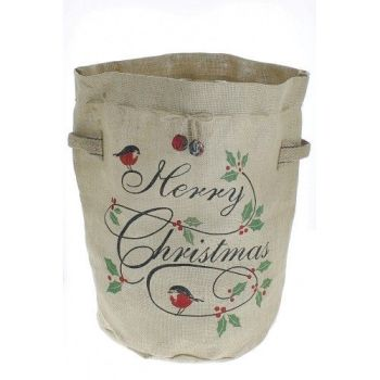 Fiona Walker, Red Robin and Holly Christmas Tree Bag (35 cm wide x 50 cm high)
