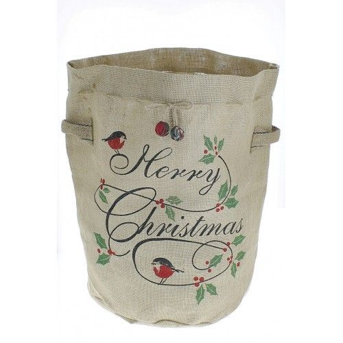 Red Robin and Holly Christmas Tree Bag (35 diam x 50 high)