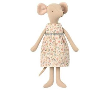 Maileg, Medium Mouse in Floral Dress