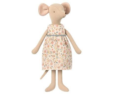 Maileg, Medium Mouse in Floral Dress - (May)