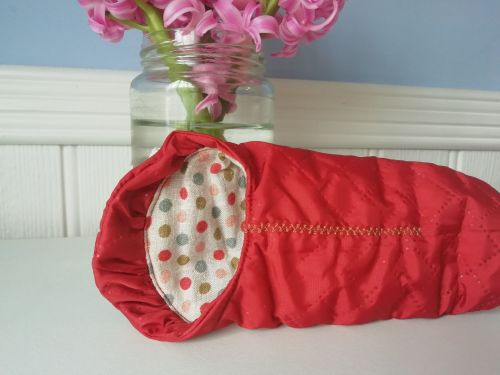 Maileg, Mouse Sleeping Bag - Burnt Red