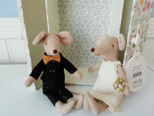 Maileg, Wedding Mice Couple in Box - missing veil