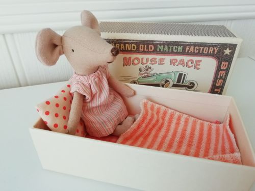 Maileg, Big Sister Mouse in Pink Nightdress