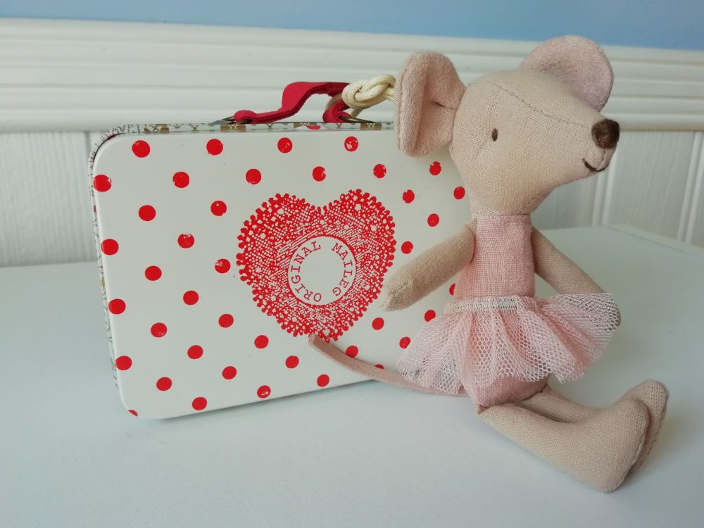 Maileg, Ballerina Mouse with 2 Dresses