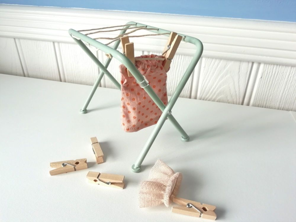 Maileg, Metal Drying Rack with Pegs