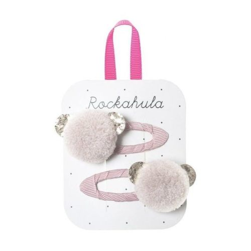 Billie Bear Pom Pom Clips