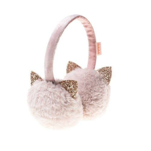 Glitter Cat Earmuffs Dusky Pink