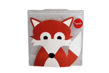 3 Sprouts Reusable Sandwich Bag - Fox (2 per pack)