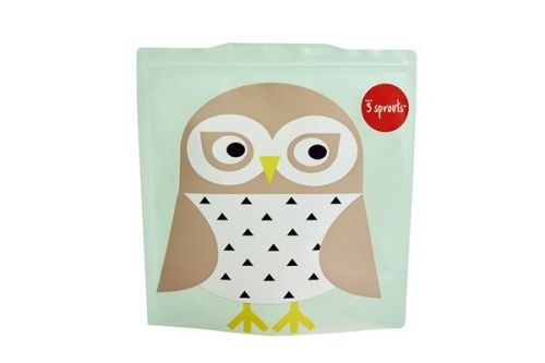 3 Sprouts Reusable Sandwich Bag Owl (2 per pack)