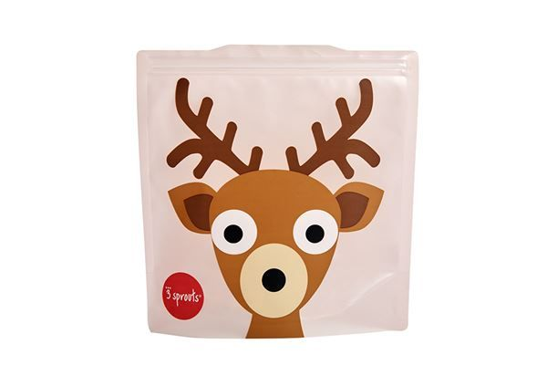3 Sprouts Reusable Sandwich Bag Deer (2 per pack)