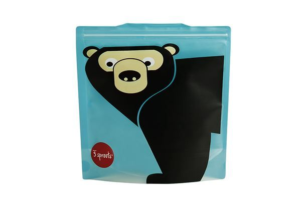 3 Sprouts Reusable Sandwich Bag Bear (2 per pack)