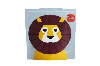 3 Sprouts Reusable Sandwich Bag - Lion (2 per pack)