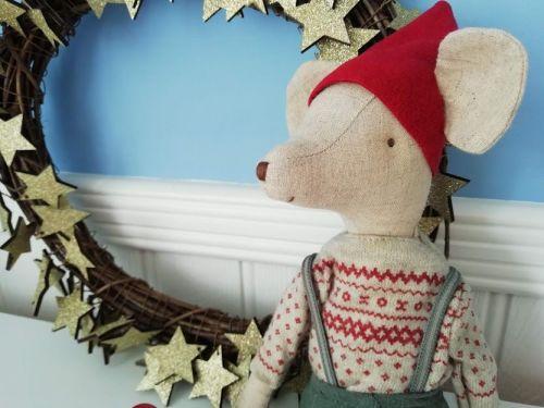 Maileg, Christmas Mouse Medium Boy