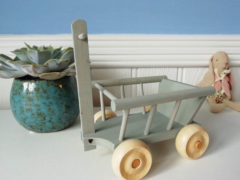 Maileg, Micro Wagon, Mint/Grey