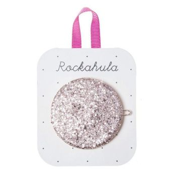 Rockahula Kids, Glitter Moon Disc Clip Pink (Coming soon . . . . .)
