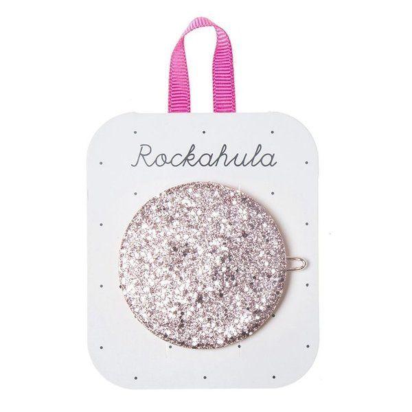 Rockahula Kids, Glitter Moon Disc Clip Pink (Coming soon . . . . .)