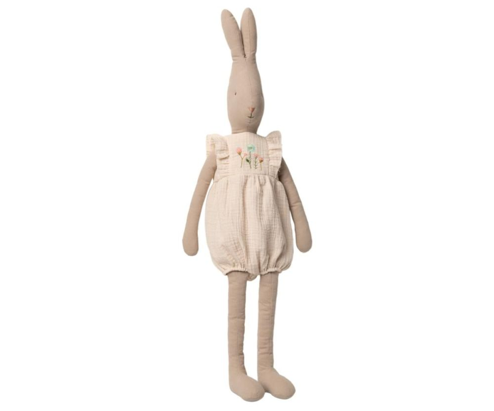 Maileg, Rabbit Size 5 in Jumpsuit - Off White (Due Late Feb)