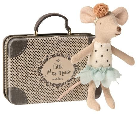 Maileg, Little Miss Mouse in Suitcase, Little Sister (Due May)