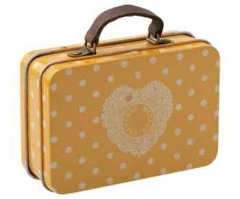 Maileg, Metal Suitcase - Yellow Dot
