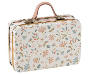 Maileg, Metal Suitcase - Floral Merle Light