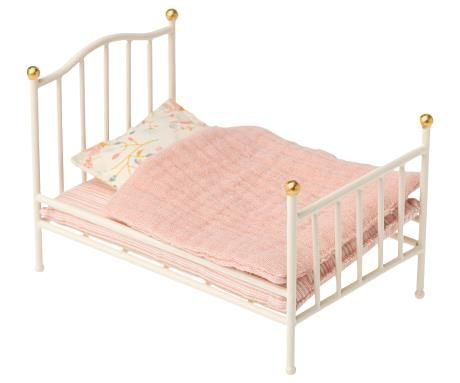 Maileg, Vintage Bed, Size Mouse - Off White (Due March)