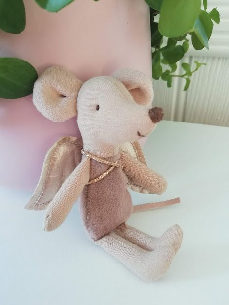 Maileg, Little Sister Fairy Mouse, Rose Pink