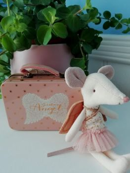Maileg, Angel Big Sister Mouse in a Tin