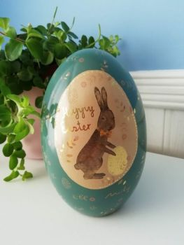 Maileg, Metal Easter Egg (Blue with Gold)
