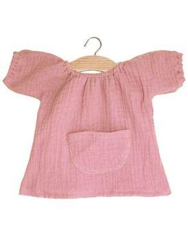 Minikane, Jeanne Dress Double Gauze Cotton (Old Rose)