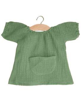 Minikane, Jeanne Dress Double Gauze Cotton (Olive Green)