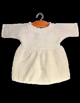 Minikane, Faustine Dress Double Gauze Cotton (Ecru)
