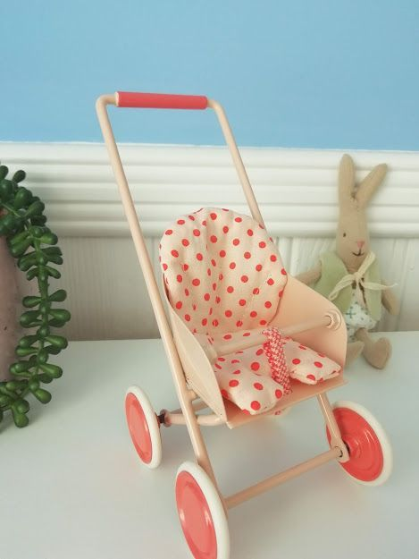 Maileg, Micro Stroller, Soft Coral