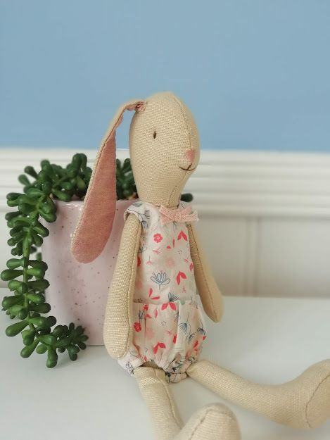 Maileg, Mini light bunny, Flower suit - Rose