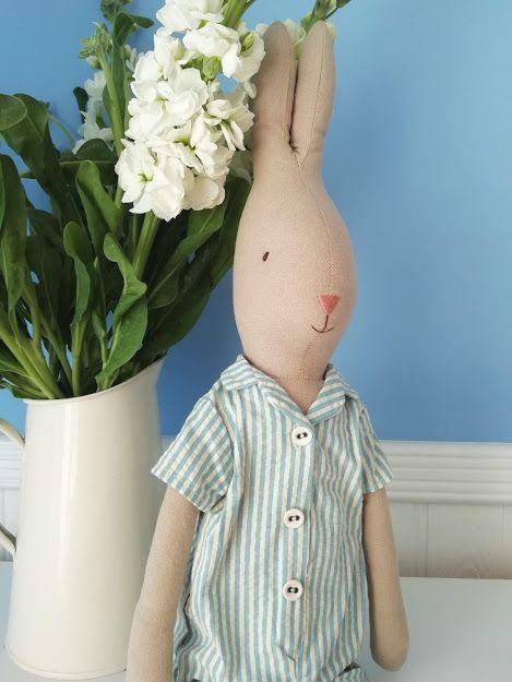 Maileg, Rabbit Size 4 in Pyjamas