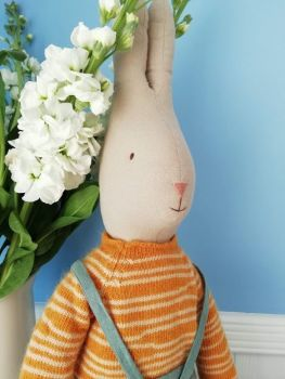 Maileg, Rabbit Size 5 in Overalls