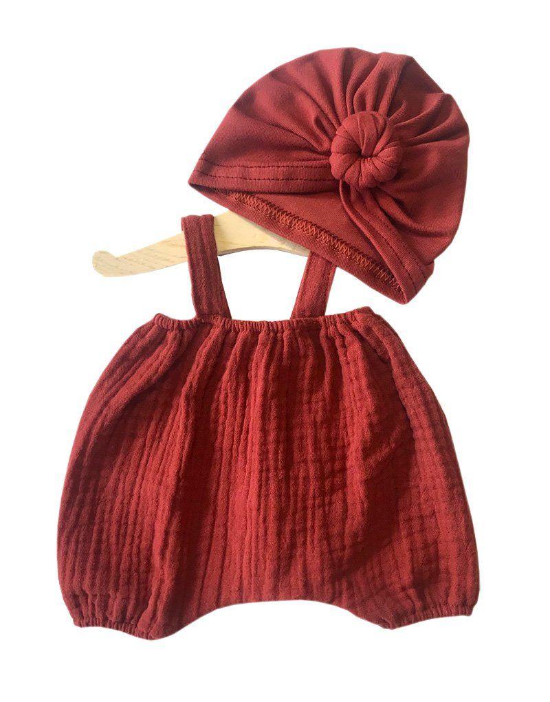 Minikane, Bloomers and Turban Set (Brick)