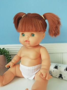 Minikane, Baby Doll Gabrielle with Underwear (green eyes) **Comes w Underwear & Bag**