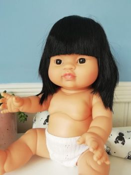 Minikane, Baby Doll Jade with Underwear (dark eyes) **Comes w Underwear & Bag**