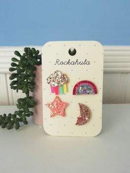 Rockahola Kids, Rainbow Badge Set