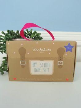 Rockahola Kids, School Hair Set - 16 Pieces Blue
