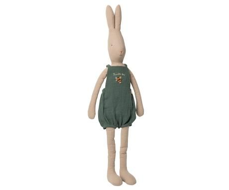 Maileg, Size 5 rabbit in Bumble Bee Overalls