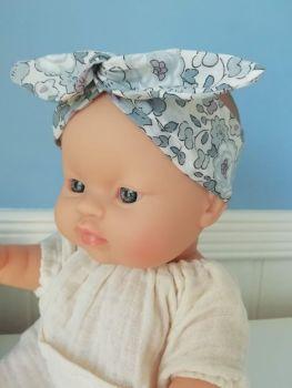Minikane, Headband coton Liberty Betsy (blue)