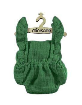 Minikane, Louala Retro Cotton Romper Double Gauze (Green)